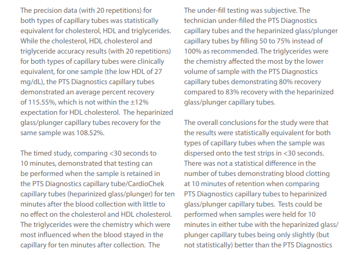 PTS Collect Capillary Tubes White Paper - PTS Diagnostics
